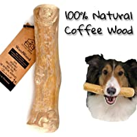 Pet Full House WoofWood Dog chew Sticks, Safe, Natural & Healthy chew Toys, Real Coffee Wood, Long Lasting, Durable…