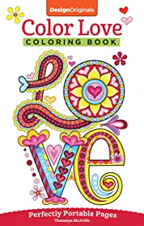 color love coloring book perfectly portable pages on the go on