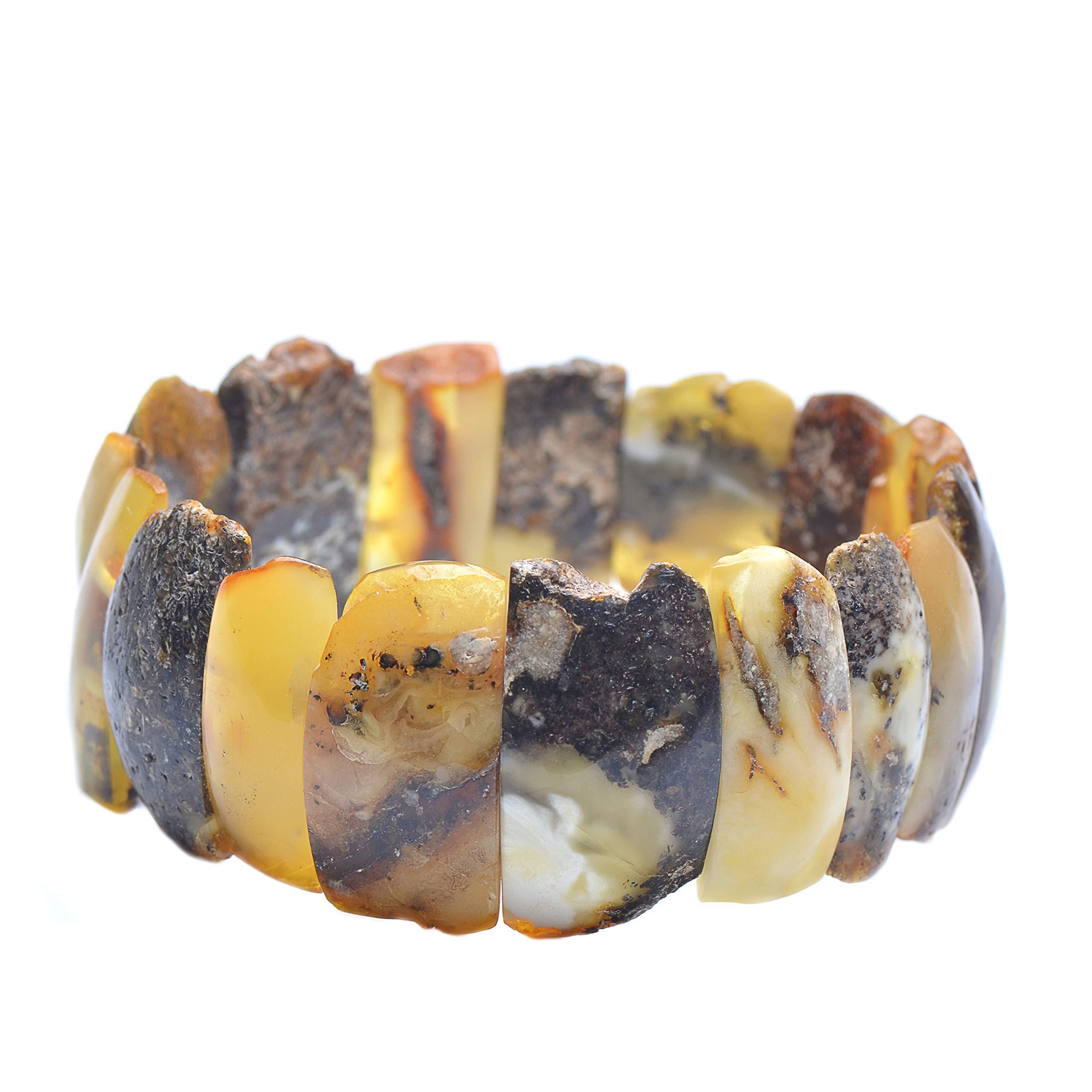 Colorful Amber Bracelet - Vintage Bracelet - Amber Bracelet - Vintage Amber Bracelet - Baltic Amber Bracelet by Genuine Amber (Image #1)