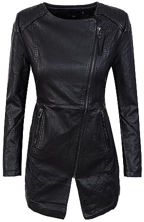 Kunstleder mantel schwarz