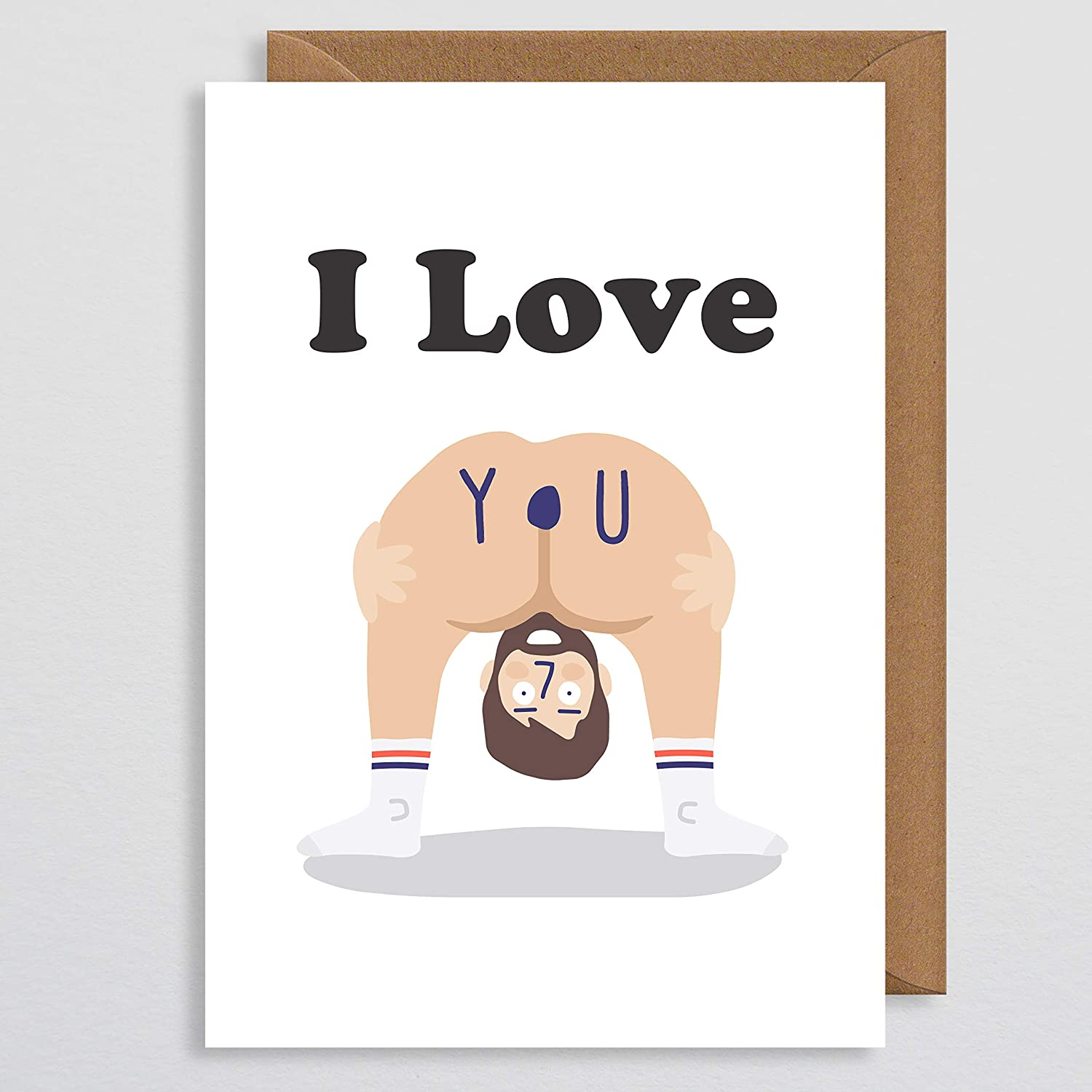 Valentines Card Funny Rude Naked Card Bum Lol Naughty Valentines Card Funny Valentines Card For Her Girlfriend Wife Couple Partner