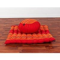 Leewadee - Juego de meditación: cojín Zafu, Alfombrilla Zabuton, 76,2 x 71,1 x 25,4 cm, Tela Kapok