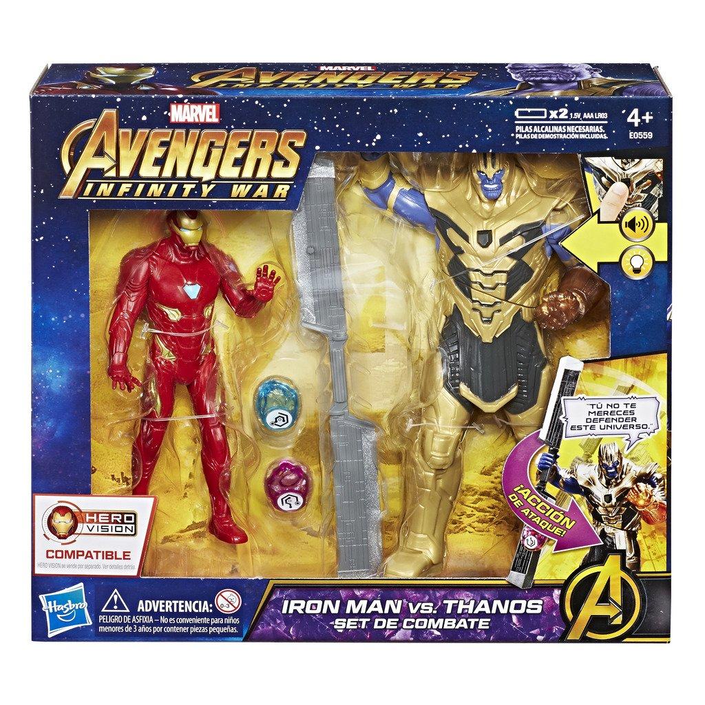 c90f6e28d8 Marvel Avengers Iron Man vs. Thanos Combat Set (Hasbro e0559105)   Amazon.co.uk  Toys   Games