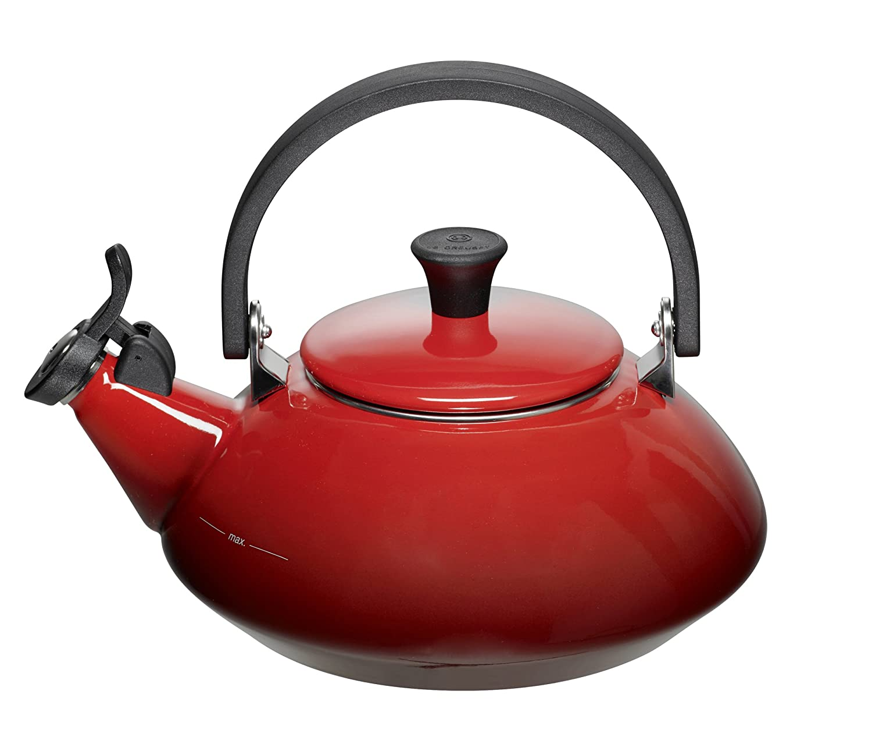 Kitchenaid Wasserkessel amazon com le creuset enamel on steel 1 2 3 quart teakettle