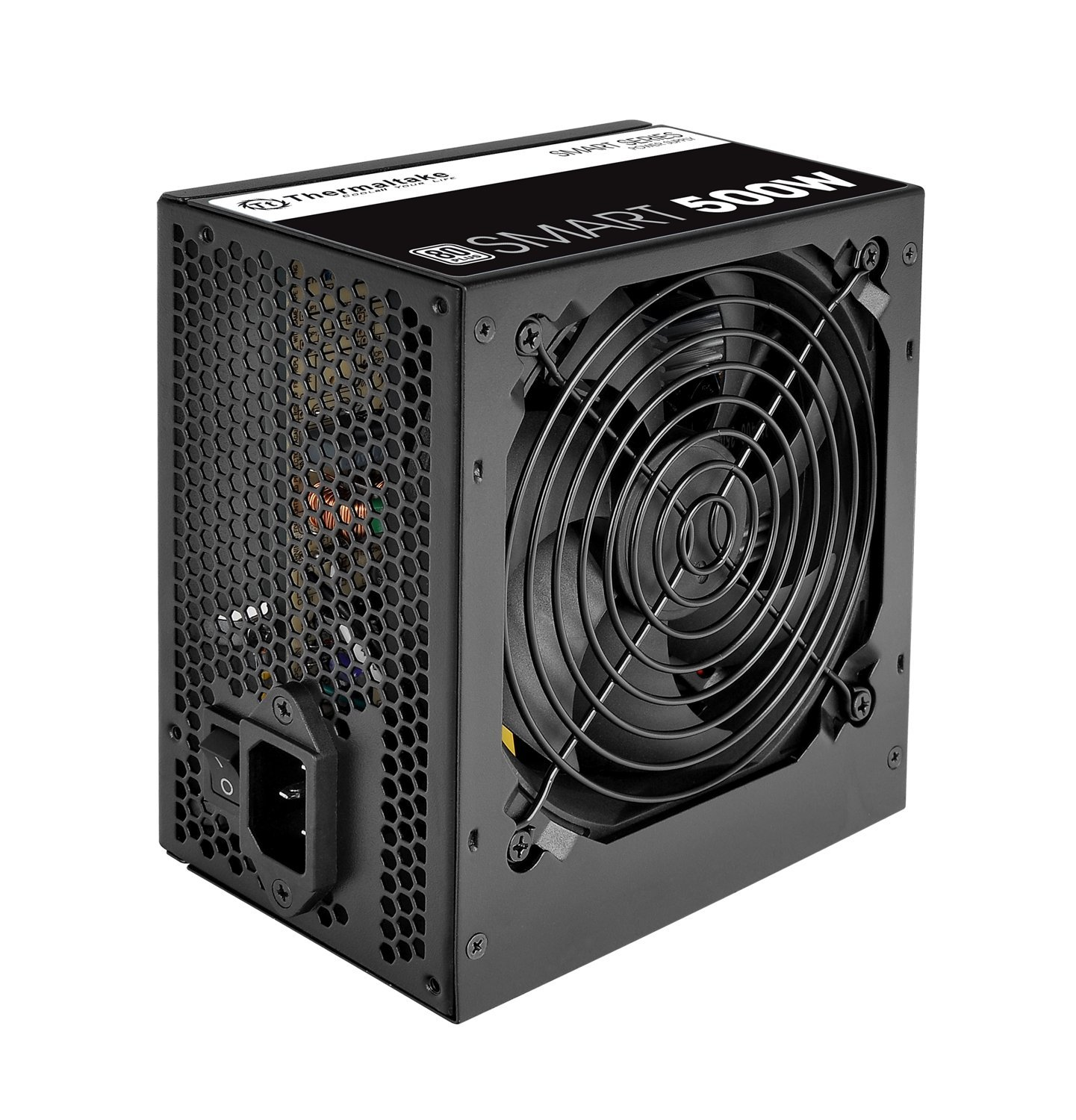 Thermaltake Smart 500W 80+ White Certified PSU, Continuous Power with 120mm cooling fan, ATX 12V V2.3/EPS 12V Active PFC Power Supply PS-SPD-0500NPCWUS-W by Thermaltake (Image #2)