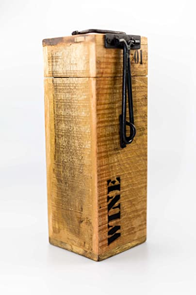 Botellas de Vino Caja Flexo Vintage Madera Madera Caja Vino ...