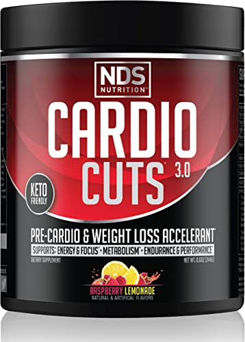 NDS Nutrition Cardio Cuts 3.0 – Advanced Pre-Cardio and Weight Loss Formula with L-Carnitine – Maximum Energy, Greater Endurance, Faster Recovery, Increased Performance – Razz Lemonade – 40 Servings