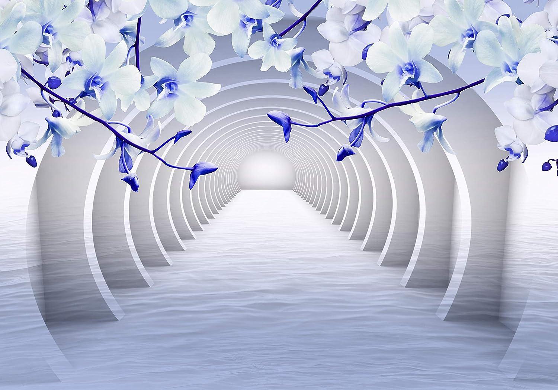 Wandmotiv24 Fototapete Tunnel Rosa Blaumen wasser 3D 3D 3D Effekt M3935 L 300 x 210 cm - 6 Teile Wandbild - Motivtapete B07NKVLM4B Wandtattoos & Wandbilder 25f081