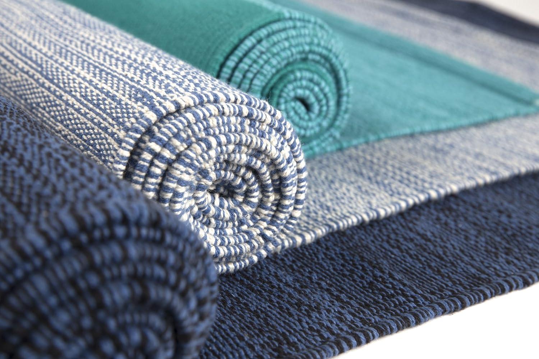 Yoga tapis en coton bio tissé à la main sur métier à tisser pas cher - Idéal pour Yoga Ashtanga et autres types de yoga
