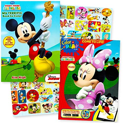 Buy Disney Mickey Mouse And Minnie Mouse Coloring Book Party Set