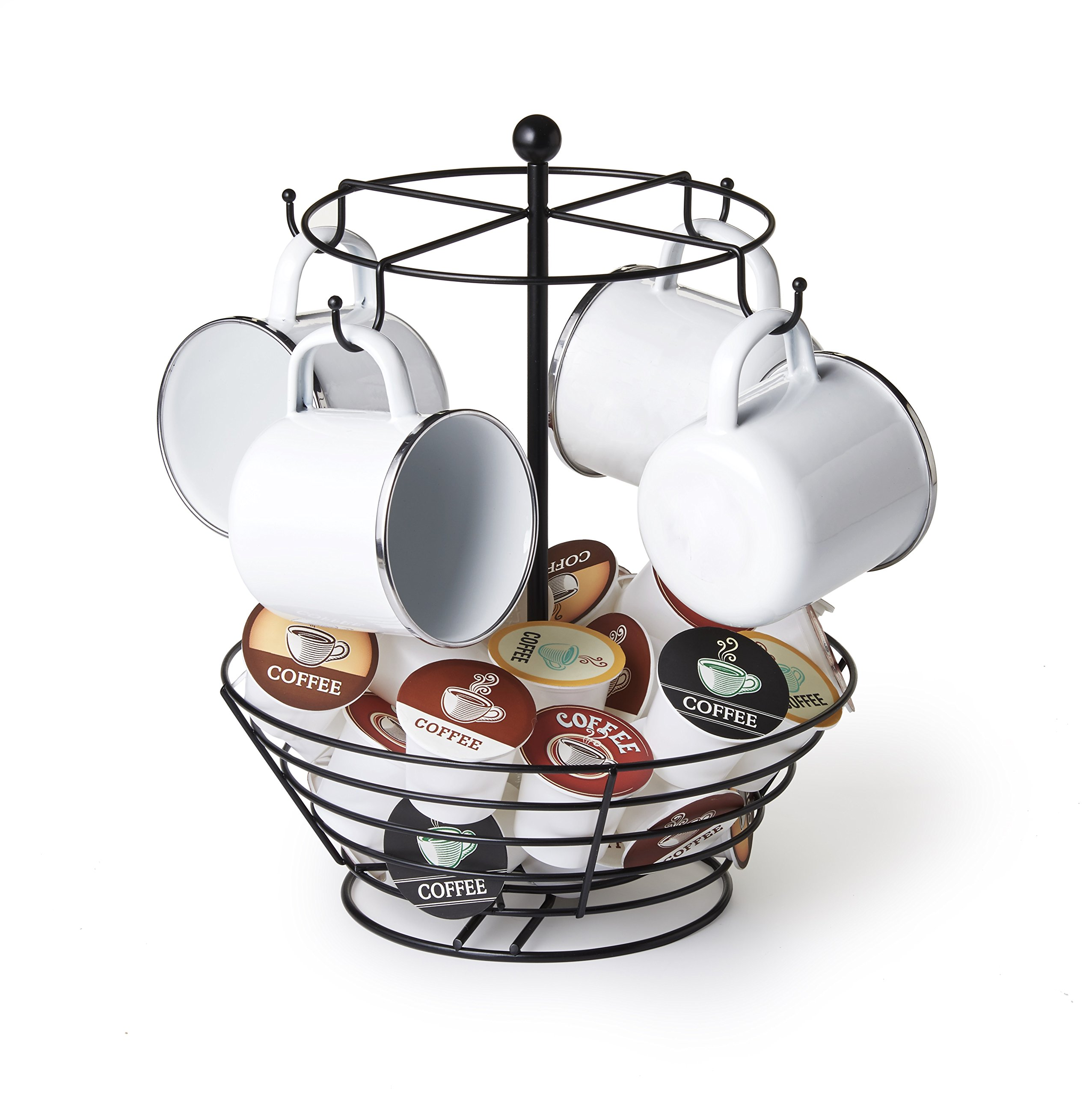 NIFTY 8830 Coffee Cup Carousel and Storage Basket, One Size, Black
