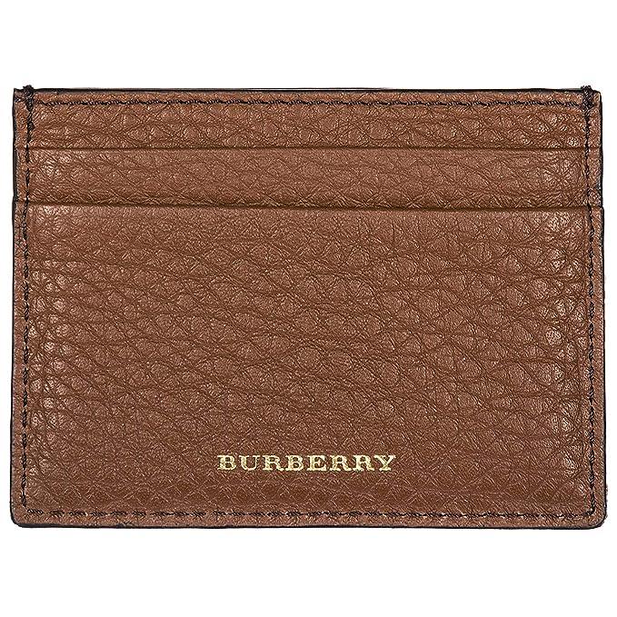 Burberry tarjetero para tarjetas de crédito en piel hombre nuevo Sandon marrón: Amazon.es: Ropa y accesorios