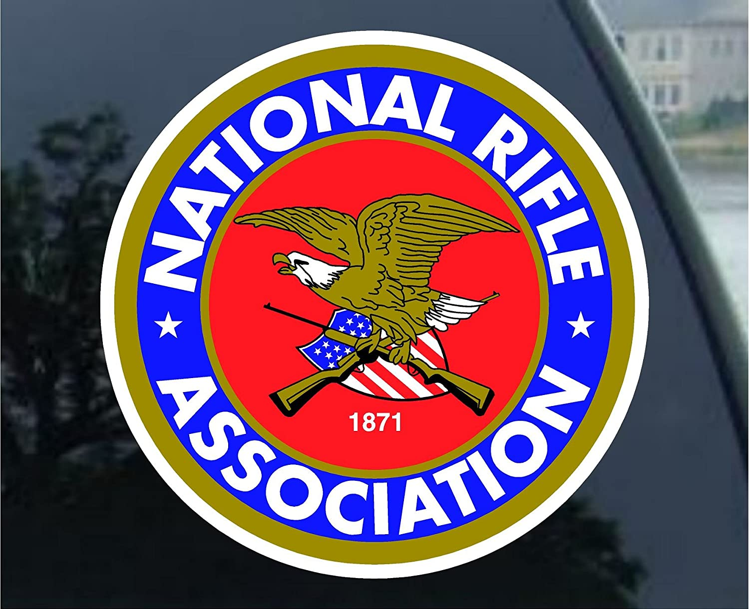 The Original NRA Stickers Bumper Stickers Pack Decal Car Truck Computer Laptop Stickers National Riffle Association Armed Property Home Business Owner Sign Warning 17PCS Pack