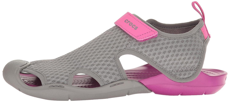 Crocs Women's Swiftwater Mesh Sandal B01H736J2A 5 B(M) US|Smoke