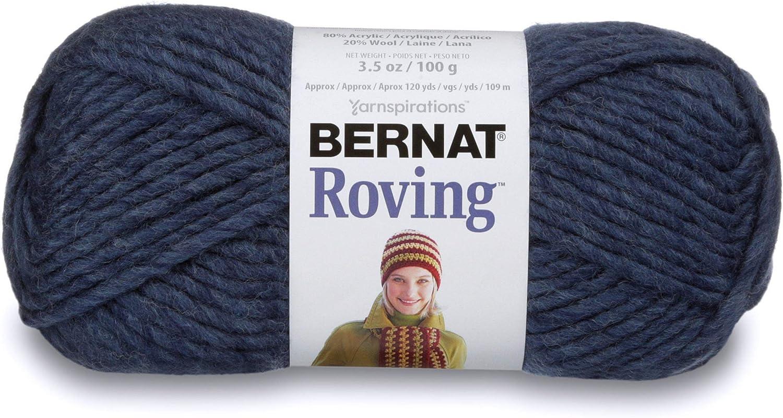 Bernat Roving Yarn ~ Cobalt #00104 ~ Wool Blend ~ #5 Bulky ~ 3.5 oz100g ~ 120 yds