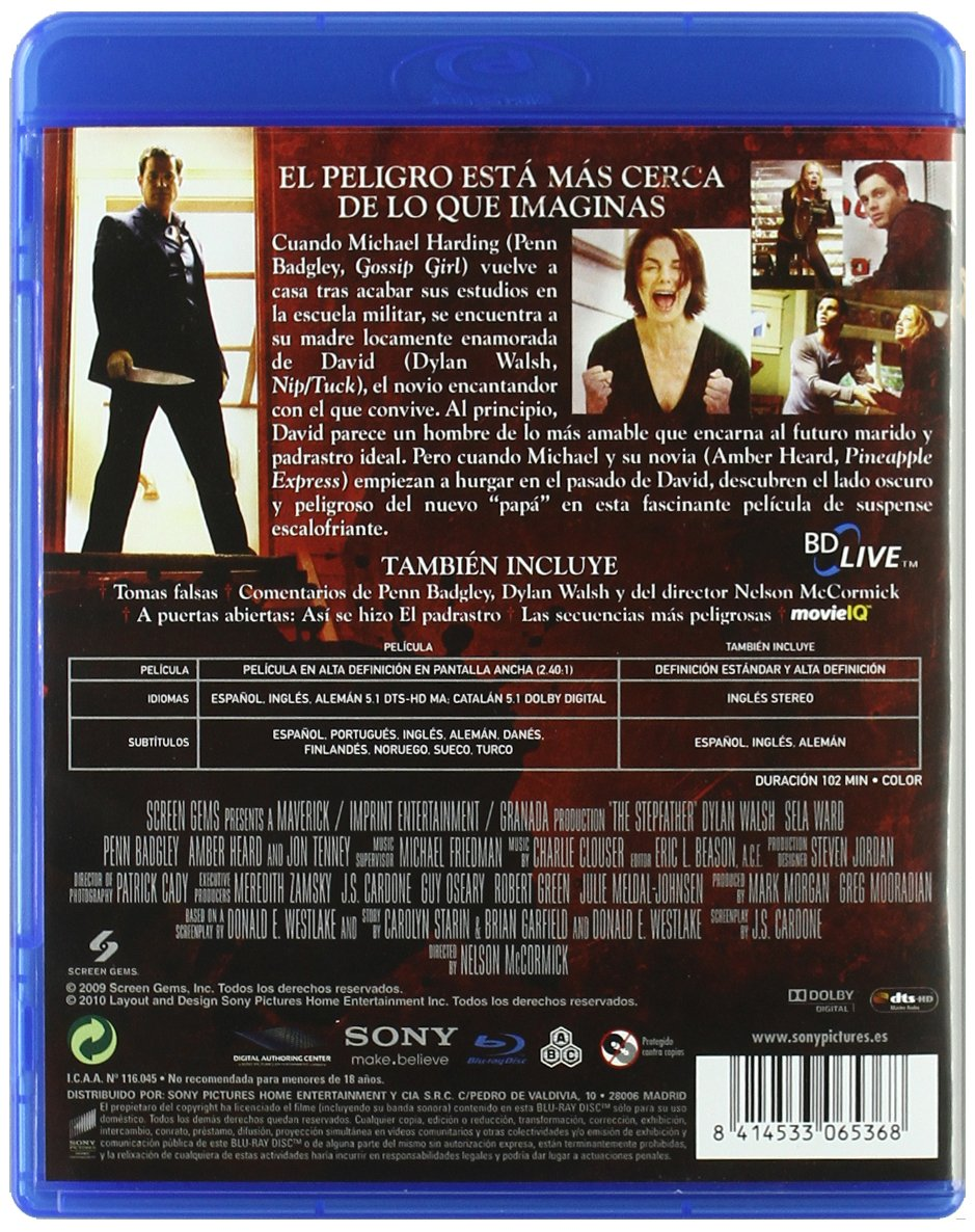 Amazon.com: El Padrastro (Blu-Ray) (Import Movie) (European Format - Zone B2) (2010) Dylan Walsh; Penn Badgley; Amber Hear: Movies & TV
