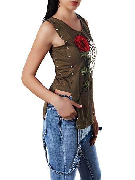 N821 Damen Longshirt Shirt Tunika Bluse T-Shirt Tank Top Minikleid Spitze
