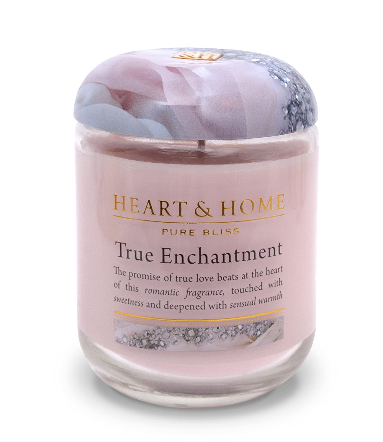Heart & Home Large Glass Enchantment Candle History & Heraldry 00275000301
