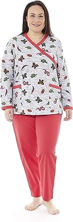 Mabel Intima Pijama Mujer Talla Grande Pijama Manga Larga Mujer Varias Tallas Estampados y Colores Tallas Grandes Tallas 50-70