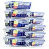 Glass Food Storage Containers with Airtight Lids (10-Pack) - Glass Lunch Containers - Meal Prep Containers for Kitchen, Home Use
