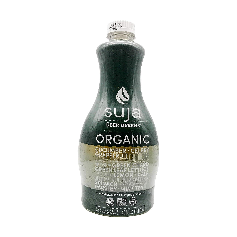 Suja Uber Greens, Organic & Cold-Pressed Vegetable and Fruit Juice, 46 oz