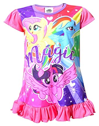 55f9fe37ad4c4 My Little Pony Girls Nightwear Sleepwear: Amazon.co.uk: Clothing