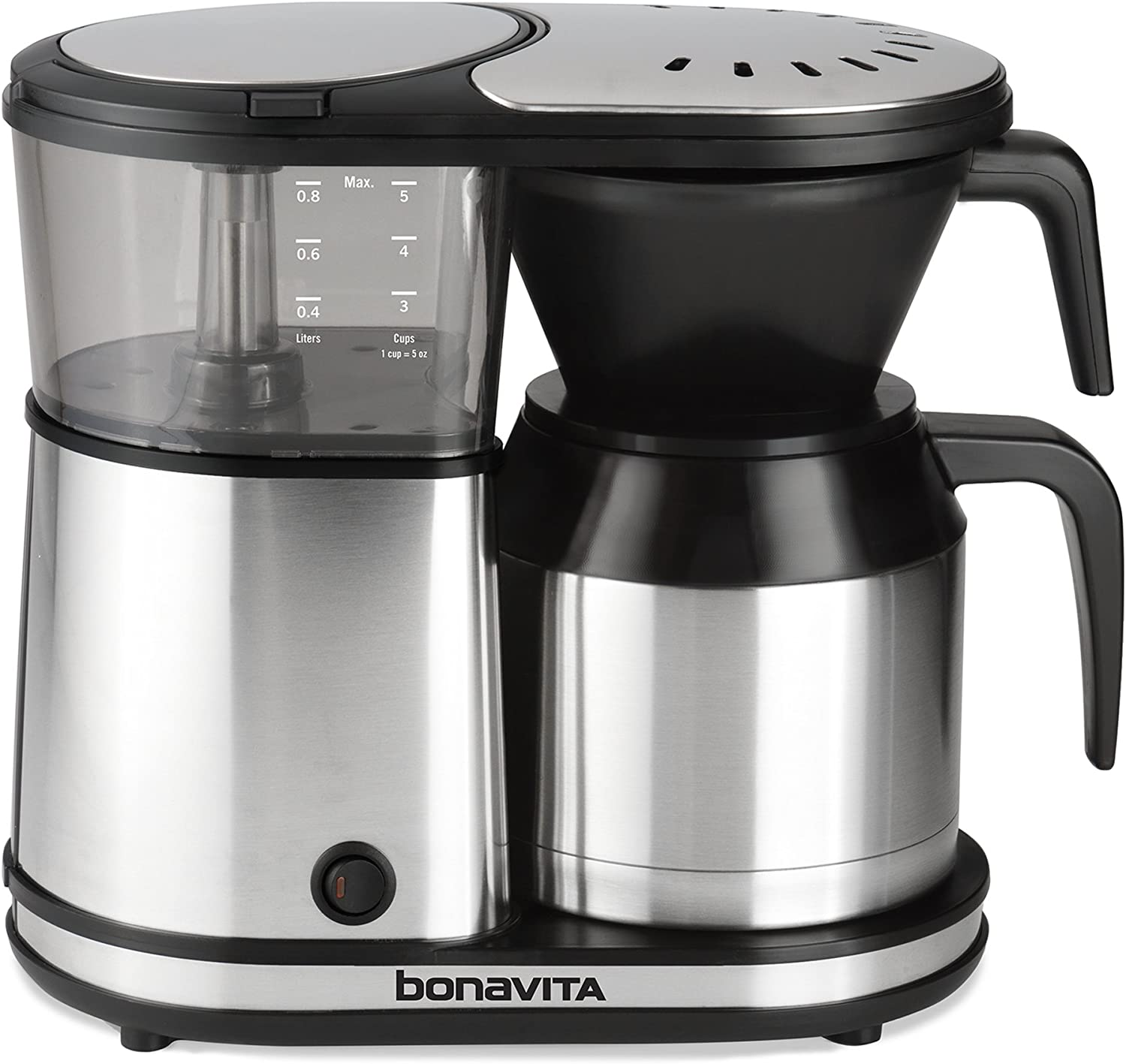 9. Bonavita 5-cup one-touch, high performing least expensive coffee maker