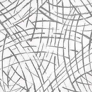 SUNBABY Black Imprint Wallpaper Modern Art Wallpaper Countertop Adhesive Paper Peel and Stick Wallpaper Removable Living Room Bedroom Home Wall Decor Furniture Refurbish Decor(17.52'' X 118.11'')