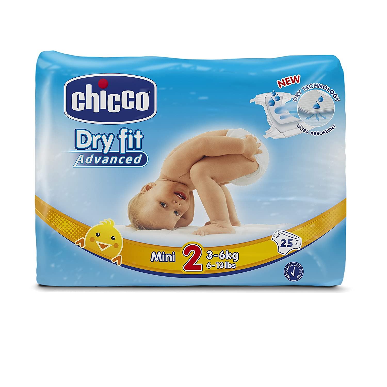 Chicco Dry Fit Advanced Set de 25 Couches Mini Taille 2 00007171000000