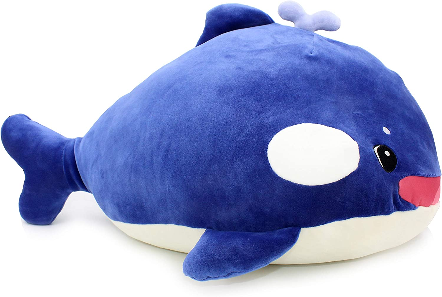 Vintoys Very Soft Orca Blue Whale Big Hugging Pillow Plush Doll Fish Plush Toy Stuffed Animals 22
