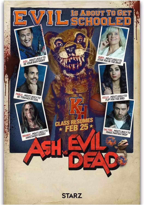 wzgsffs Hot Ash Vs Evil Dead Season 3 Horror TV Series Show Wall Art Poster E Impresiones Impresas En Lienzo para Sala De Estar Home Bedroom-24X32 Inchx1 Frameless