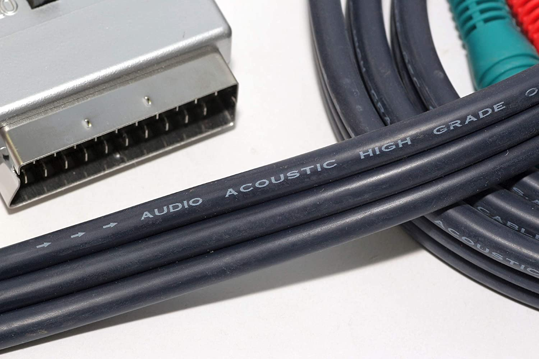 RCA AV SVHS TheOneStopSatShop Scart Analogue Adaptor Connection Kit For Flat Panel Television
