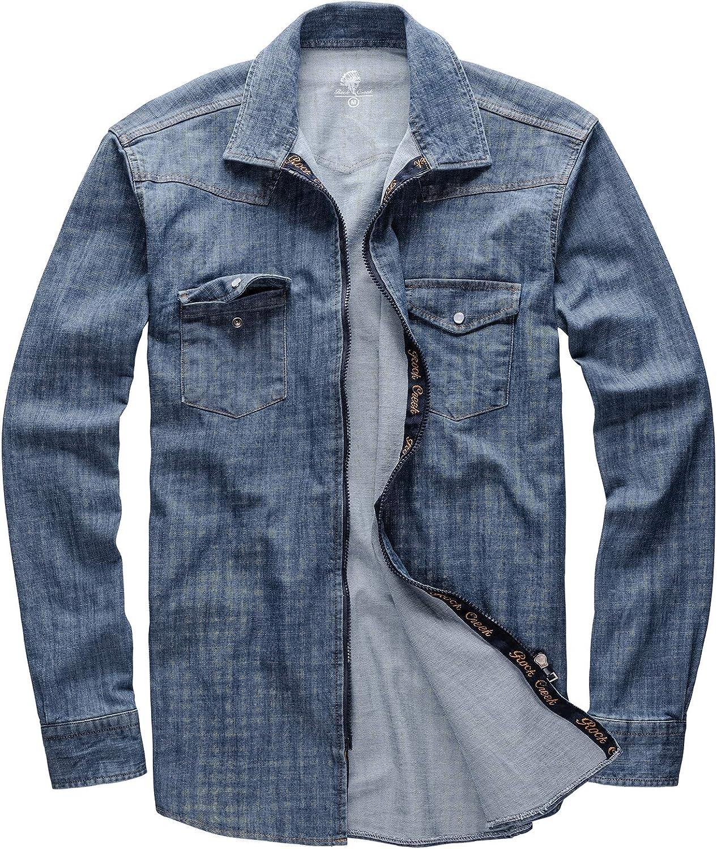 Camicia da Uomo in Jeans Rock Creek M54