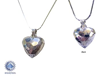 Amazon emf protection silver heart necklace with emf emf protection silver heart necklace with emf protecting crystals with silver chain for 24 aloadofball Choice Image