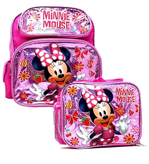 76245a3dffe Image Unavailable. Image not available for. Color  Disney 16 quot  Minnie  Mouse Backpack School Girls Pink ...
