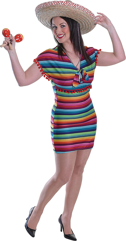 Bristol Novelty ac527 mexicano Lady disfraz (UK 10 – 14): Amazon ...