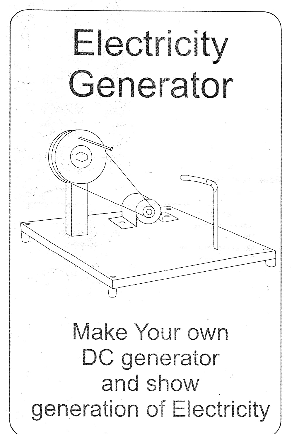 Buy Do It Yourself Dc Generator Electricity Educational Learning Toy Simple Working Diagram Kit Online At Low Prices In India