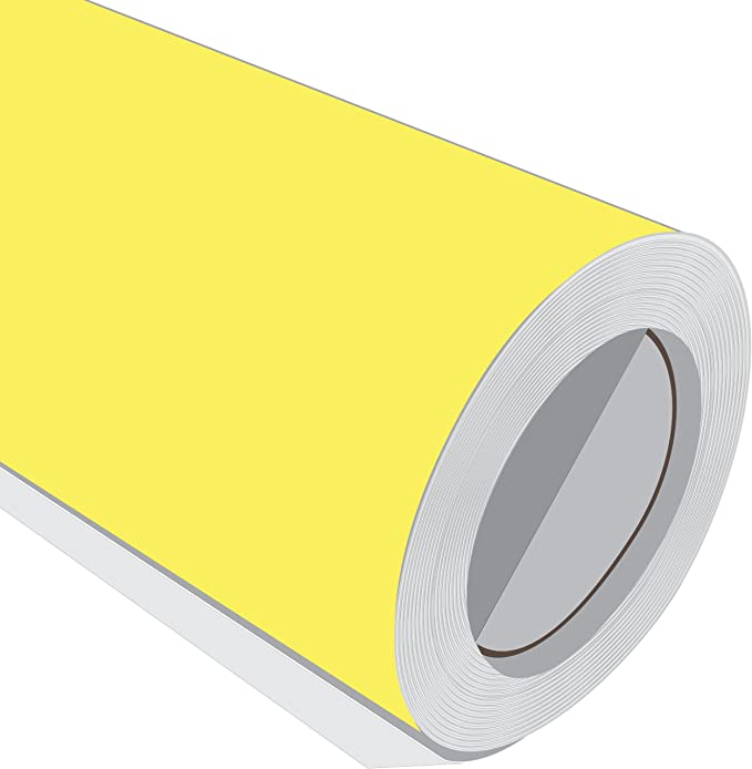 3 Metre (3 m) rollo de HD brillante amarillo mate 610 mm de ancho Vinilo autoadhesivo: Amazon.es: Hogar