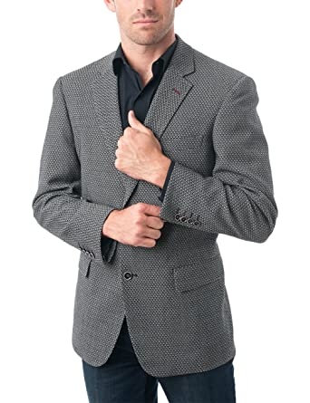 65ecff3bd256 Chama Men's Two Buttons Wool Blend Classic Fit Casual Sports Coat Blazer  Jacket