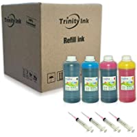 Trinity Ink Compatible Refill Ink Replacement for Epson 664 774 and ecotank ET-2500 ET-2550 ET-4500 ET-4550 L100 L110 L120 L200 L210 L300 L350 L355 L550 L555 (Black, Cyan, Magenta, Yellow, 4x500ml)