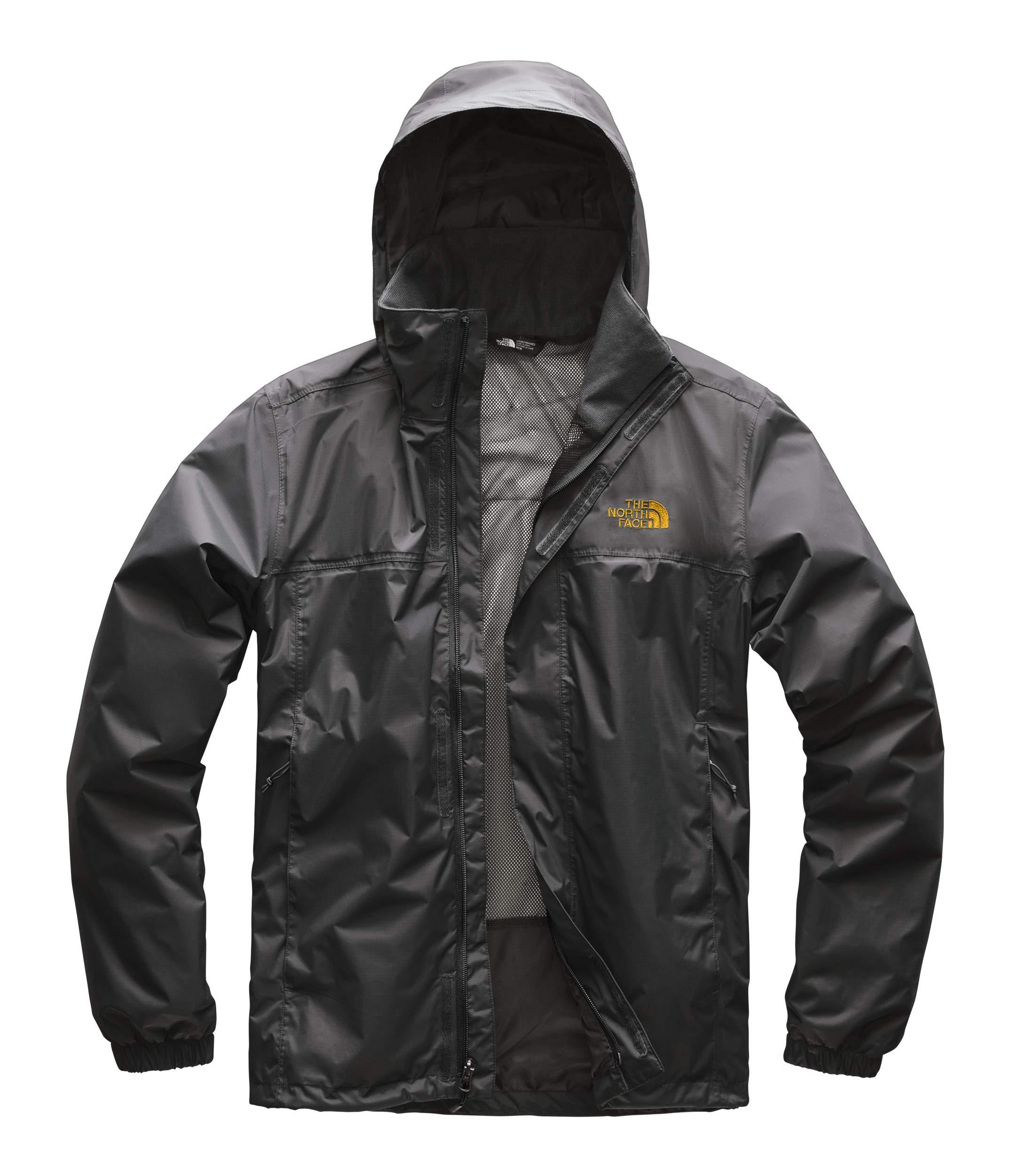 The North Face Men's Resolve 2 Jacket Asphalt Grey/Zinnia Orange Small