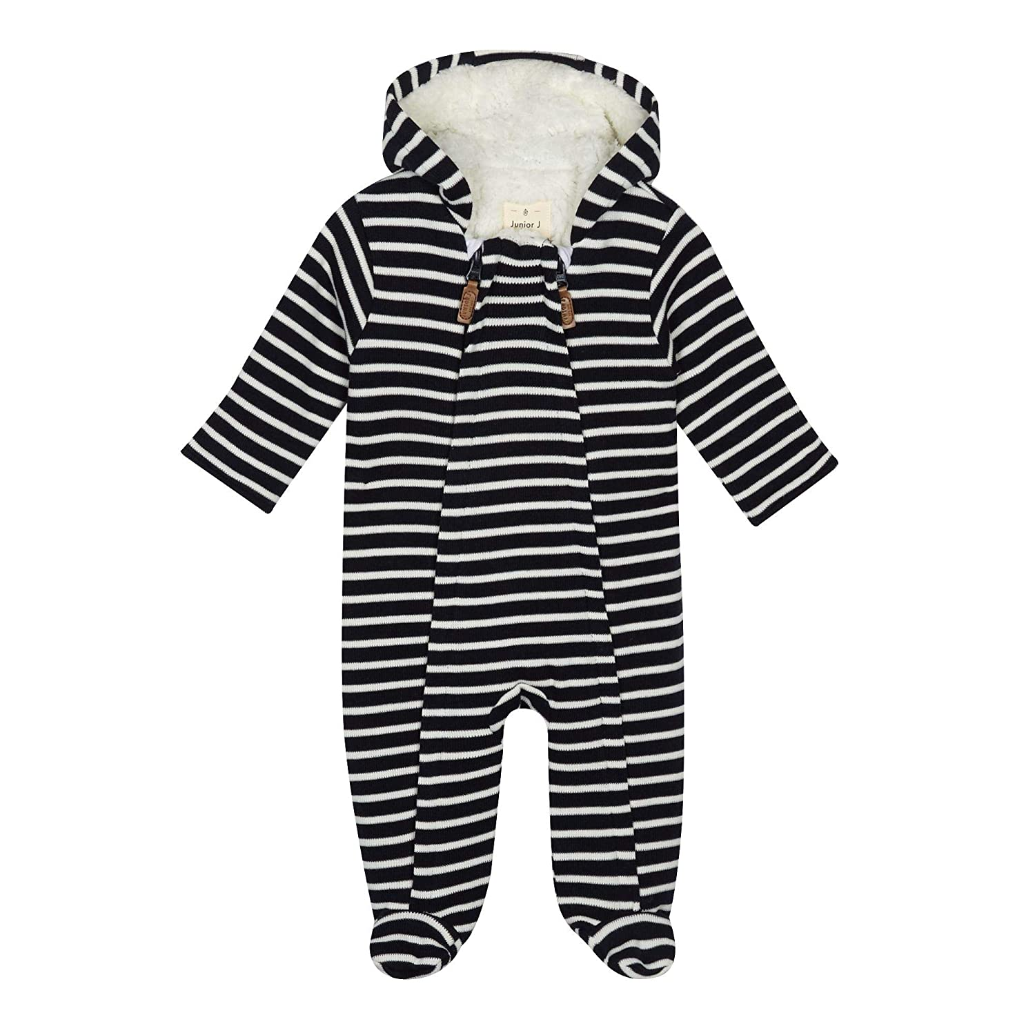J by Jasper Conran Kids Babies' Navy Striped Snugglesuit