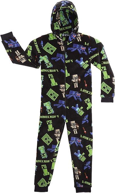 Minecraft Pijama Entero para Niños con Capucha, Pijamas Super ...
