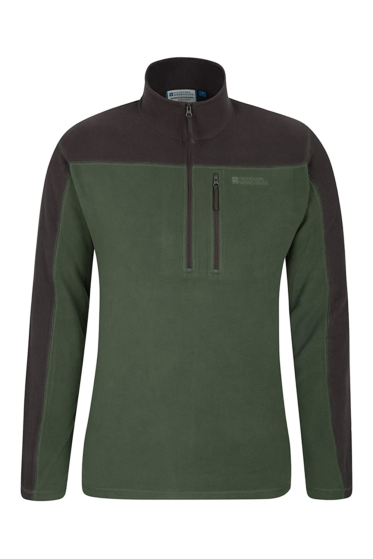 Mountain Warehouse Argyle Mens Half Zip Fleece Top - Fast Dry Jacket