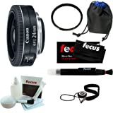 Canon EF-S 24mm f/2.8 STM Lens Bundle with Tiffen 52mm UVP and Deluxe Accessories