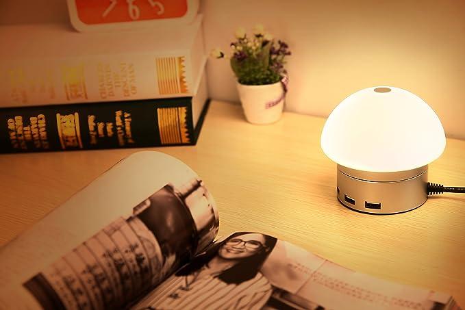Ivso lampada led da tavolo con dimmer integrato lampada da