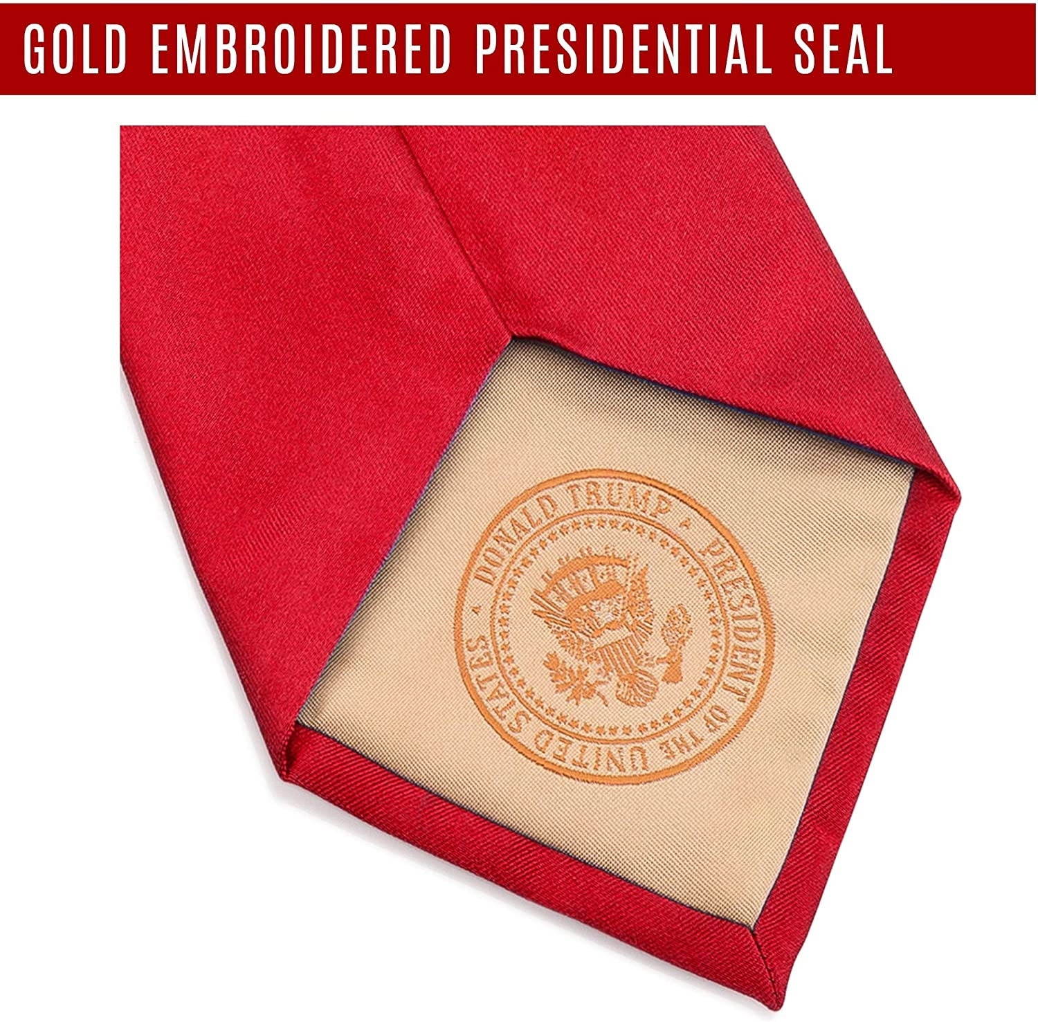 Donald J. Trump Signature Corbata de cuello rojo con sello ...