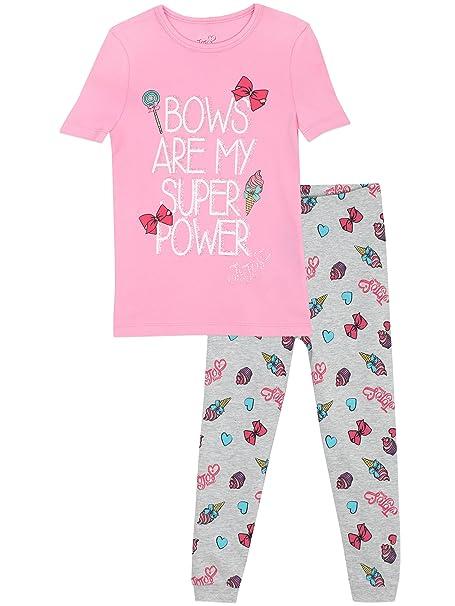 JoJo Siwa - Pijama para niñas - JoJo Siwa - Ajuste Ceñido - 10 a 11