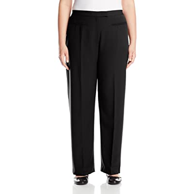 Ruby Rd. Women's Size Plus Flat Front Easy Stretch Pant at Women's Clothing store