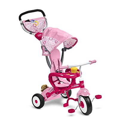 radio flyer ez fold stroll n trike ride on pink